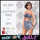 Robot Dolly - Alba - Strappy Leather Mini - Sky