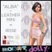 Robot Dolly - Alba - Strappy Leather mini - Rose