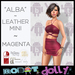 Robot Dolly - Alba - Strappy Leather Mini - Magenta