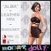 Robot Dolly - Alba - Strappy Leather Mini - Burgundy