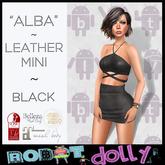 Robot Dolly - Alba - Strappy Leather Mini - Black