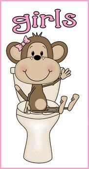 Second Life Marketplace Sign School Girls Bathroom Monkey