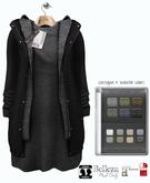 GIZ SEORN - Cozy Layered Coat W [Black]