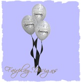~R~FDA~Happy Anniversary White Balloon Cluster COPY ONLY