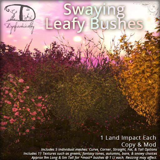 [DDD] Swaying Leafy Bushes - Animated Season Change XL Bushes