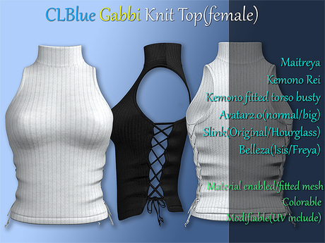 [demo]CLBlue-Gabbi KnitTop(female)