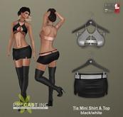 PRECAST Inc. - Tia Mini Skirt - black/white