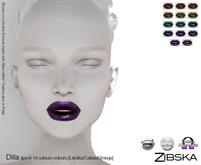 Zibska ~ Dlila Lips in 14 colors with Lelutka, Catwa and Omega appliers