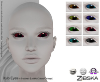 Zibska [50L Closeout] ~ Xylo Color Change Eye Appliers with Catwa, Lelutka and Omega versions