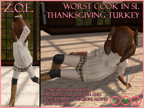 Z.O.E. Worst Cook in SL Thanksgiving Turkey (Bagged)