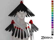 Zibska [50L Closeout] ~ Alured Hat, Shoulders and Chestpiece