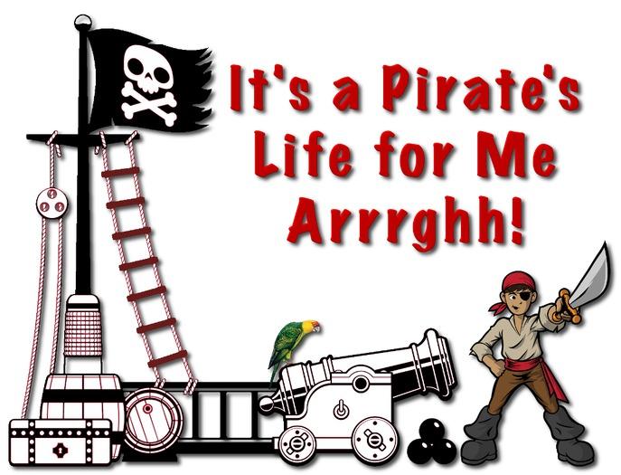 Second Life Marketplace - Kids Wall Decor - Pirate Arrgh