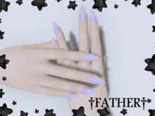 +FATHER+ - Maitreya Purple Goop Nails