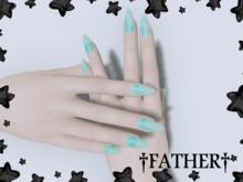 +FATHER+ - Maitreya Blue Goop Nails