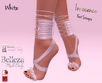 *INNOCENCE* Foot Straps - White