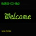 Neon welcome green