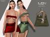 [MSN Design] Suki Outfit [GREEN-LBROWN]