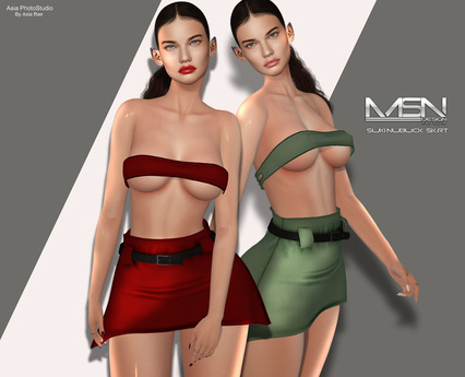 [MSN Design] Suki Nubuck Skirt [FATPACK] - [ Maitreya / Belleza / Slink ]