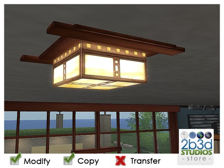 Second Life Marketplace 2b3d Mission Style Ceiling Light