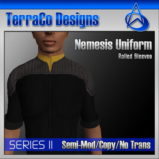 Starfleet Nemesis Uniform (Rolled Sleeves) Gold
