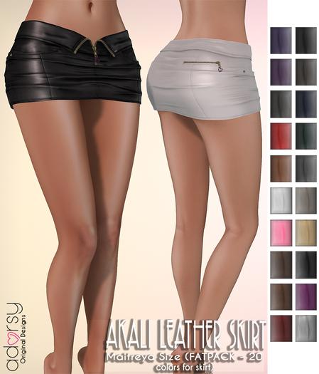 adorsy - Akali Mesh Leather Skirt Fatpack - Maitreya