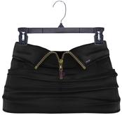 adorsy - Akali Leather Mesh Skirt Black - Maitreya
