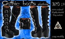 Gothic vampire punk sculpted boots platform