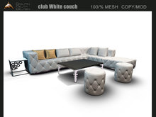 [Dolphin-Design]club White couch
