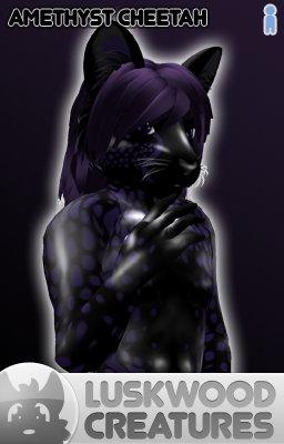 Luskwood Amethyst Cheetah Furry Avatar - Male