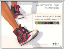 MIEL VARSITY KICKS BRIGHT (FITTED MESH)