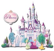 Kids Wall Decor - Princess Castle Dance