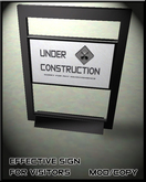 Under Construction Sign - Modern-