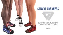 ILLI - [SLink,Signature Gianni,Belleza Jake,Aesthetic,TMP,Adam] Jake Canvas Sneakers (HUD Driven) PROMO