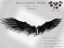 Animated Bento Wings T4.2 Lite Black - Motion - Walk Flap Slap Protect animation - Quick Hud - Mesh & Materials