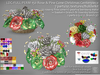 LDG-FULL PERM 150A Rose & Pine Cone Christmas Centerpiece/7 parts/69 textures/Builderkit