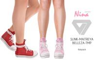 ILLI - [SLink,TMP,Maitreya,Belleza] Nina Canvas Sneakers (HUD Driven)