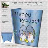 ":GG: *Touch Me* Musical Happy Rezday ""With Love"" Greeting Card with original Penguin Art by Daisy"