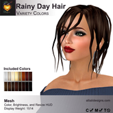 A&A Rainy Day Hair Variety Colors Pack. Wet hair style, womens medium mesh