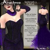 C&F Arachnea 3 - Dark Purple Spiderweb Corset Gown