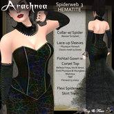 C&F Arachnea 3 - Hematite Spiderweb Corset Gown