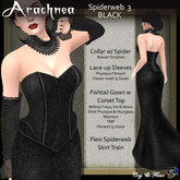 C&F Arachnea 3 - Black Spiderweb Corset Gown