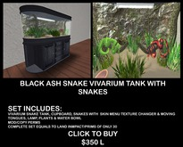 BLACK ASH WOOD SNAKE VIVARIUM BOXED
