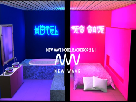[NW] New Wave Hotel Backdrop (wear me)
