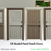 ER Dutch Doors Beaded Panel Set
