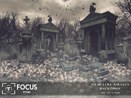 [ Focus Poses ] Cemetery Graves Backdrop