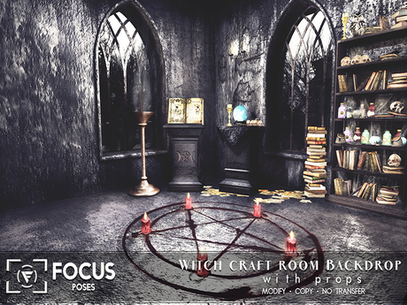 [ Focus Poses ] Witch Craft Room Backdrop