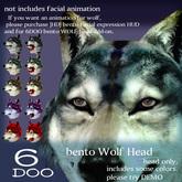 *6DOO* bento wolf head