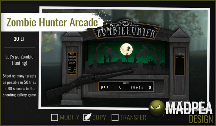 MadPea Zombie Hunter Game