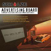 SCHULZE - Advertising Board