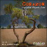 Zinnias Corazon Twisted Desert Tree